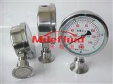 伊米勒-卡箍式隔膜压力表#316L卫生级隔膜阀压力表#充油耐震隔膜阀压力表