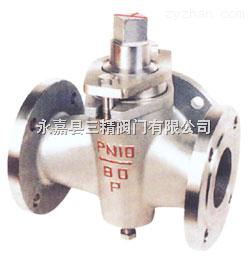 旋塞阀图片系列:X44W三通不锈钢旋塞阀